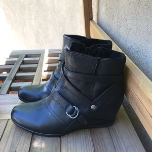BareTraps buckle ankle boots. Worn once.